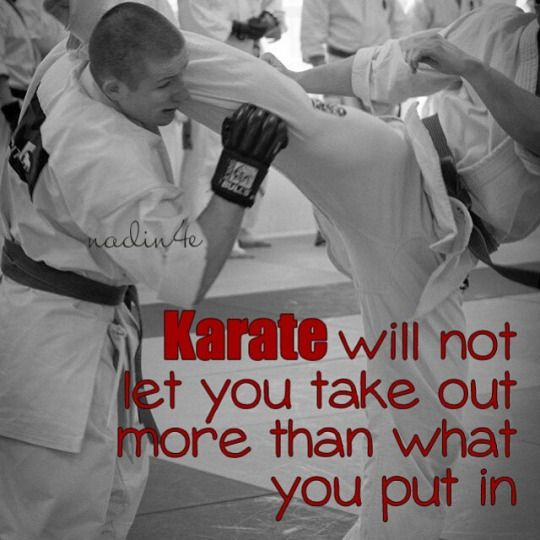 Kyokushin karate quote martial arts pinterest karate quotes exercises fandeluxe Choice Image
