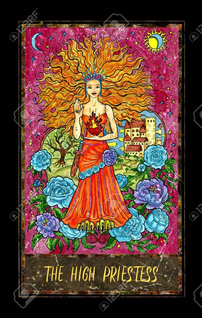 High priestess major arcana tarot card the magic gate