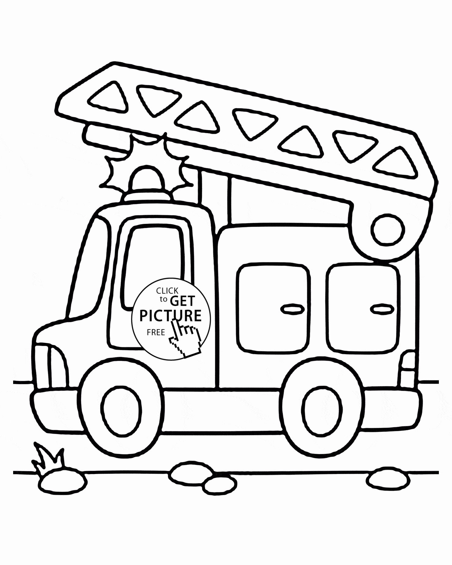 Transportation Coloring Pages For Preschoolers Brandweerwagen