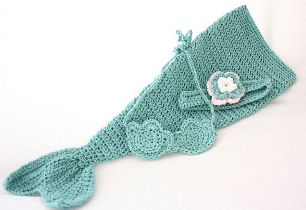 Baby Mermaid Costume Photo Prop Flower Headband by CrochetChalet ...
