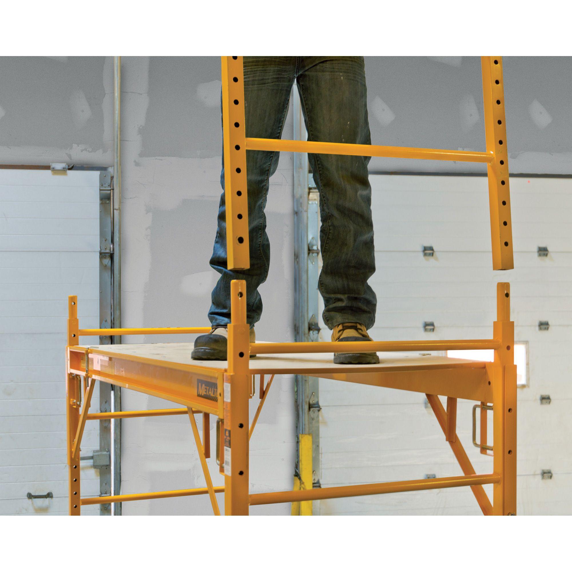 Metaltech Multipurpose 6ft Baker Style Scaffold 1 000 Lb Capacity Steel Model I Cisc Scaffolding Workbench Plans Lumber Storage