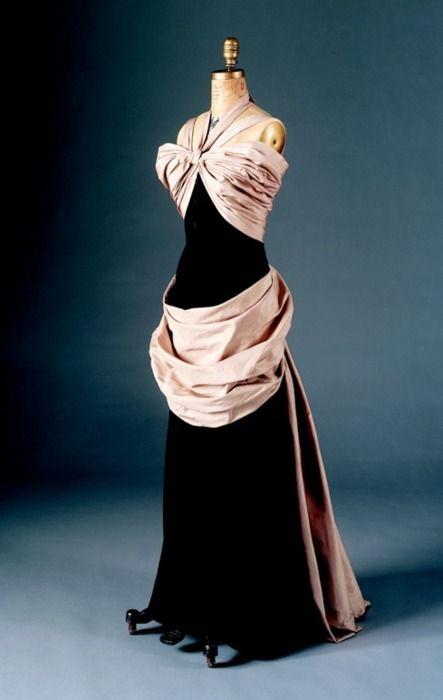 Evening Dress Cristobal Balenciaga, 1950, Arizona Costume Institute