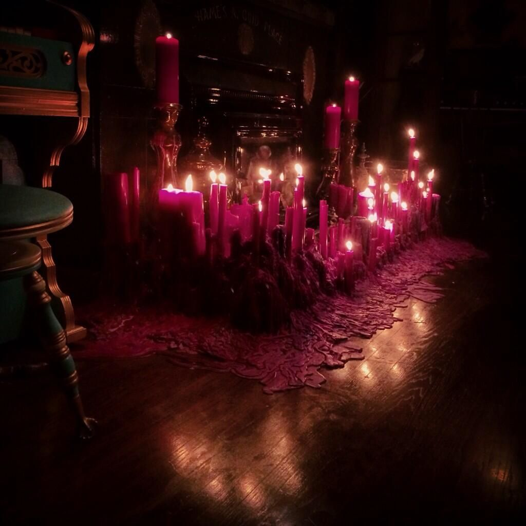 Design Gothic Candles tending the original purple candle wax pile for first time i ive been