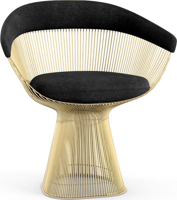Knoll Platner Gold Arm Chair Contemporary Chairs Armchair