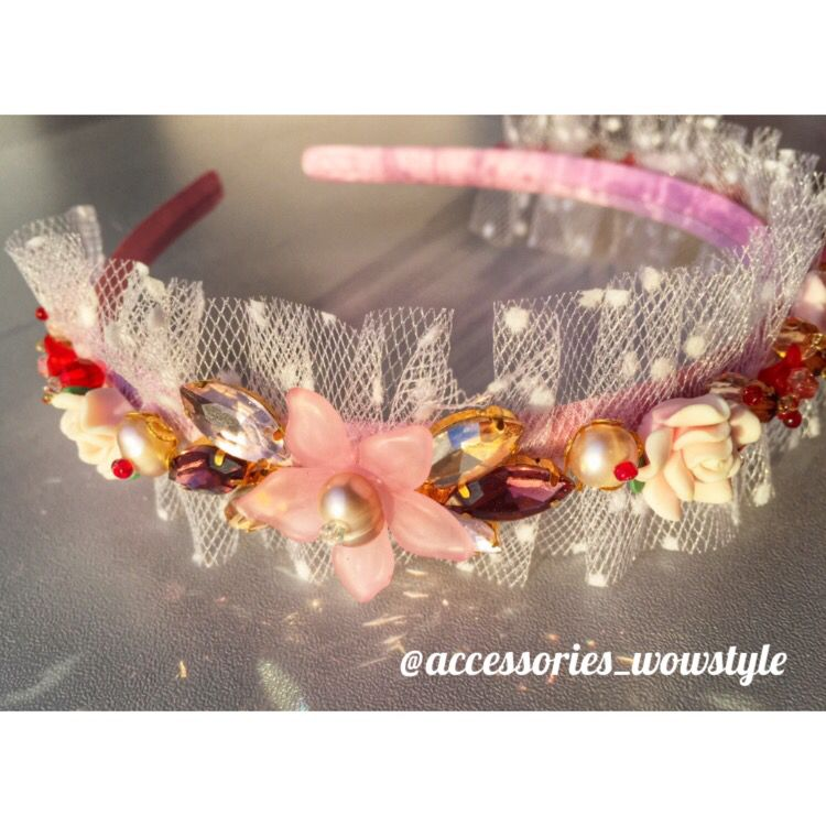 "HANDMADE Headbands for babies ""WoW Style""  ✨Materials: Swarovski, pearl, crystal ✉️ Contact: wow.beautystyle@gmail.com,  ✔️www.wowstyle.lv  @accessories_wowstyle ✈️Worldwide shipping. Individual orders.   Price-50€."