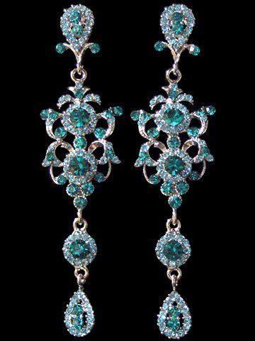 Antique Aquamarine Chandelier Earrings They Look Like Blue Diamonds