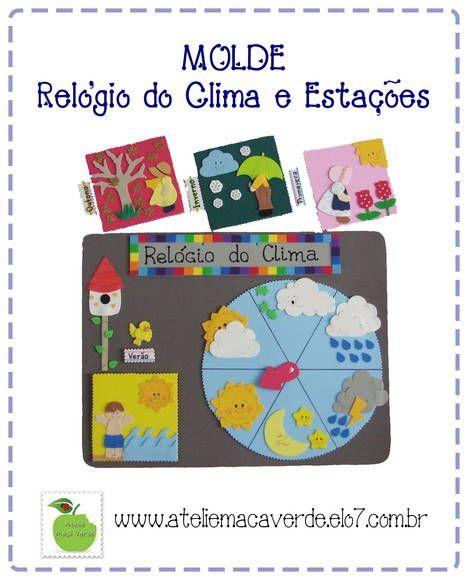 f30734ca135 RELÓGIO DO CLIMA OU DO TEMPO E ESTAÇÕES. O relógio indica o tipo de clima