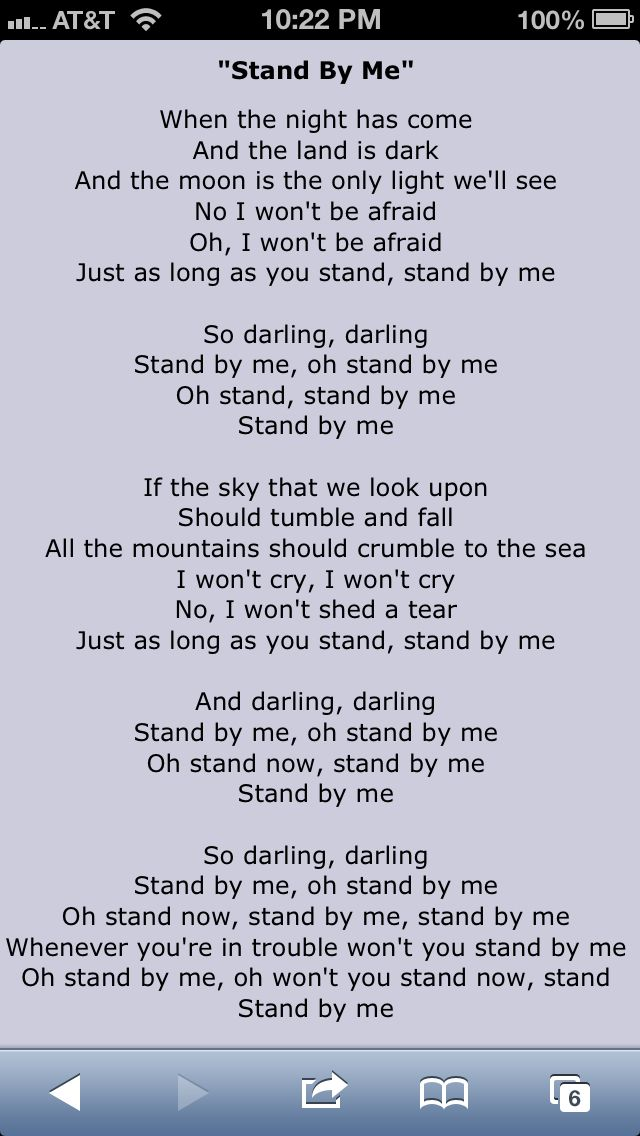 Lyric songs by lyrics : Stand By Me Lyrics: Shana surprised and picked this song for her ...