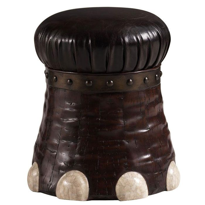 Henry Link Trading Co Elephant Foot Stool Handcrafted