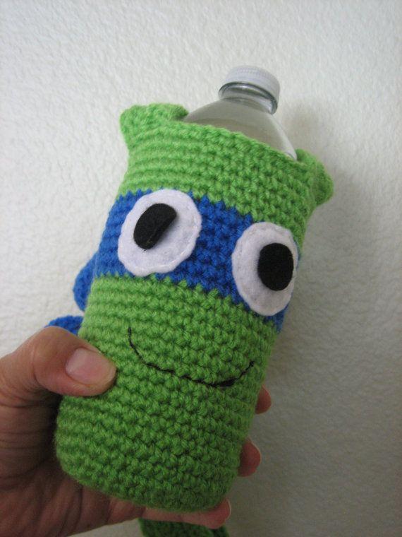 Crochet Knit - Teenage Mutant Ninja Turtles Water Bottle holder-TMNT ...