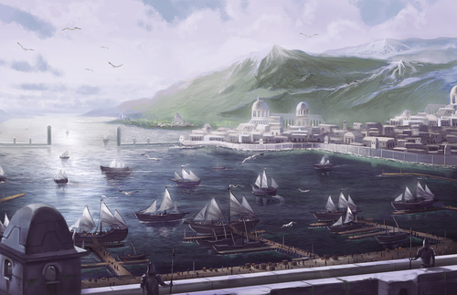 Andúnië | Middle earth, Middle earth art, Fantasy city
