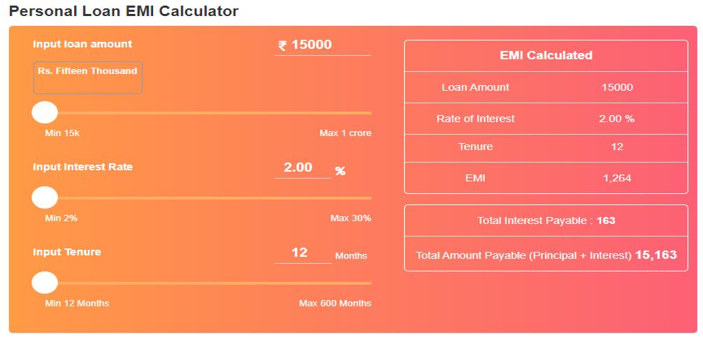 Significance Of Emi Calculators In Personal Loans In 2020 Personal Loans Loan Person