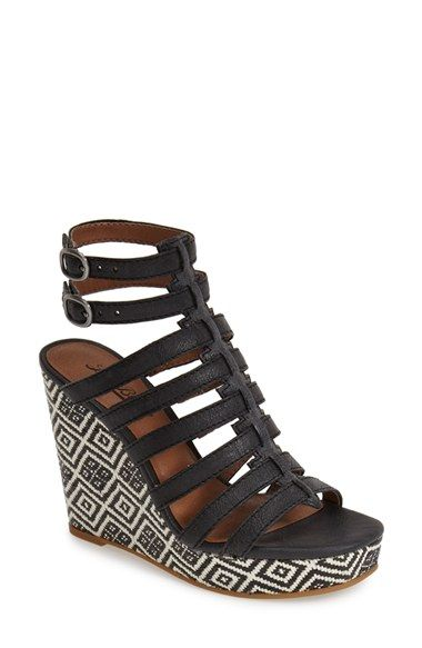 922a6cc5629 Lucky Brand  Labelle  Caged Wedge Platform Sandal (Women) available at   Nordstrom