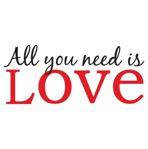 WallPops All You Need is Love Wall Quote