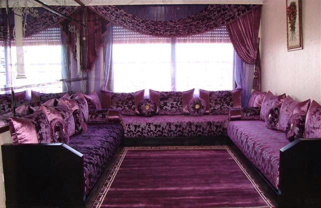 Salon Marocain Traditionnel (Mauve) | Moroccan room, Dream ...
