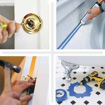 From dead doorbells and jammed doors to caulking the bath and replacing broken tiles : jammed door - pezcame.com