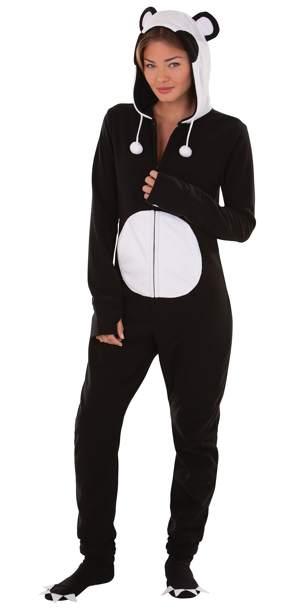 Women's Wild-Style Panda Hoodie-Footie from PajamaGram. $79.99 ...
