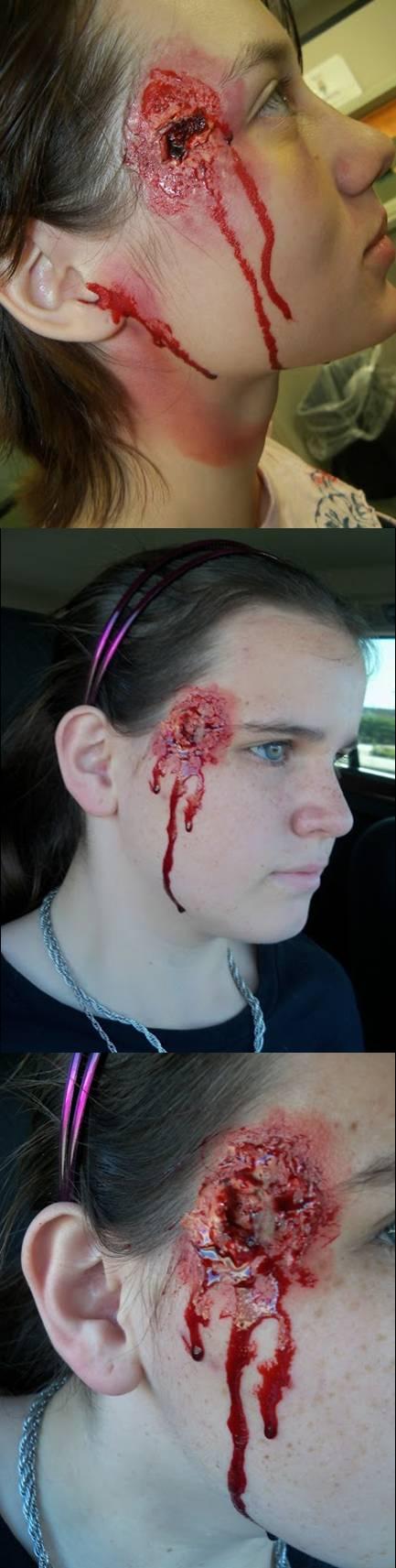 halloween makeup. bullet holes | Extreme makeup, Halloween ...