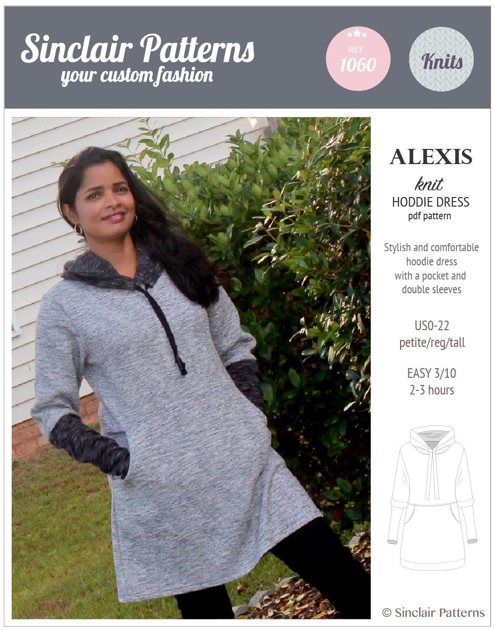 PDF Sewing Patterns Sinclair Patterns Alexis relaxed fit hoodie ...