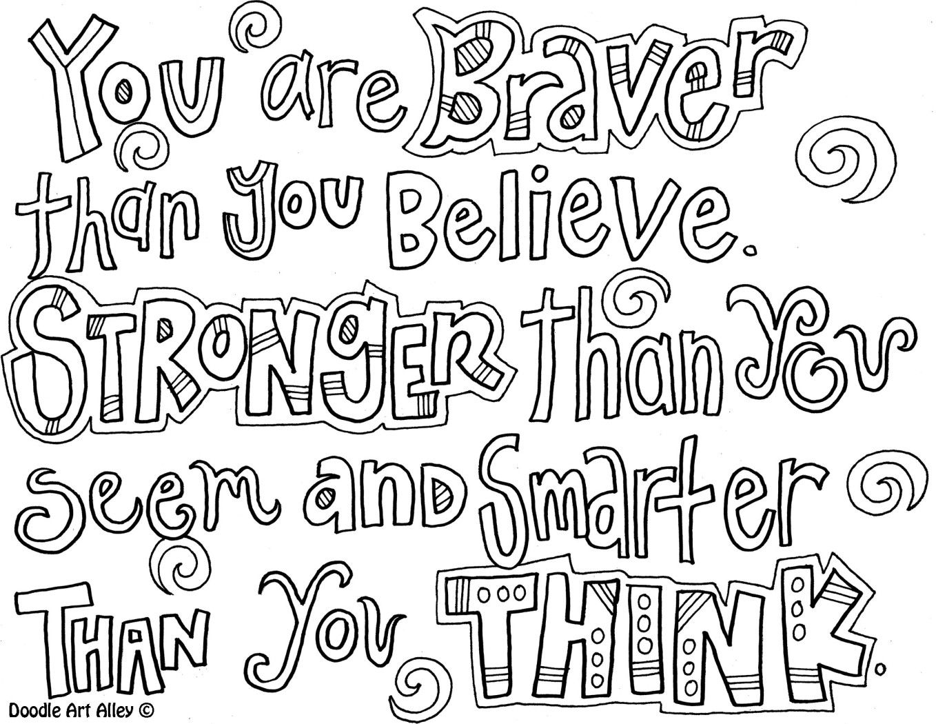 Youarebraver Jpg Quote Coloring Pages Color Quotes Free