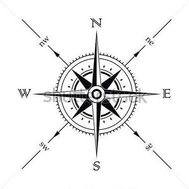 Silueta Brujula De La Rosa De Los Vientos De Vector Compass Tattoo Diseno De Tatuaje De Compas Rosa De Los Vientos