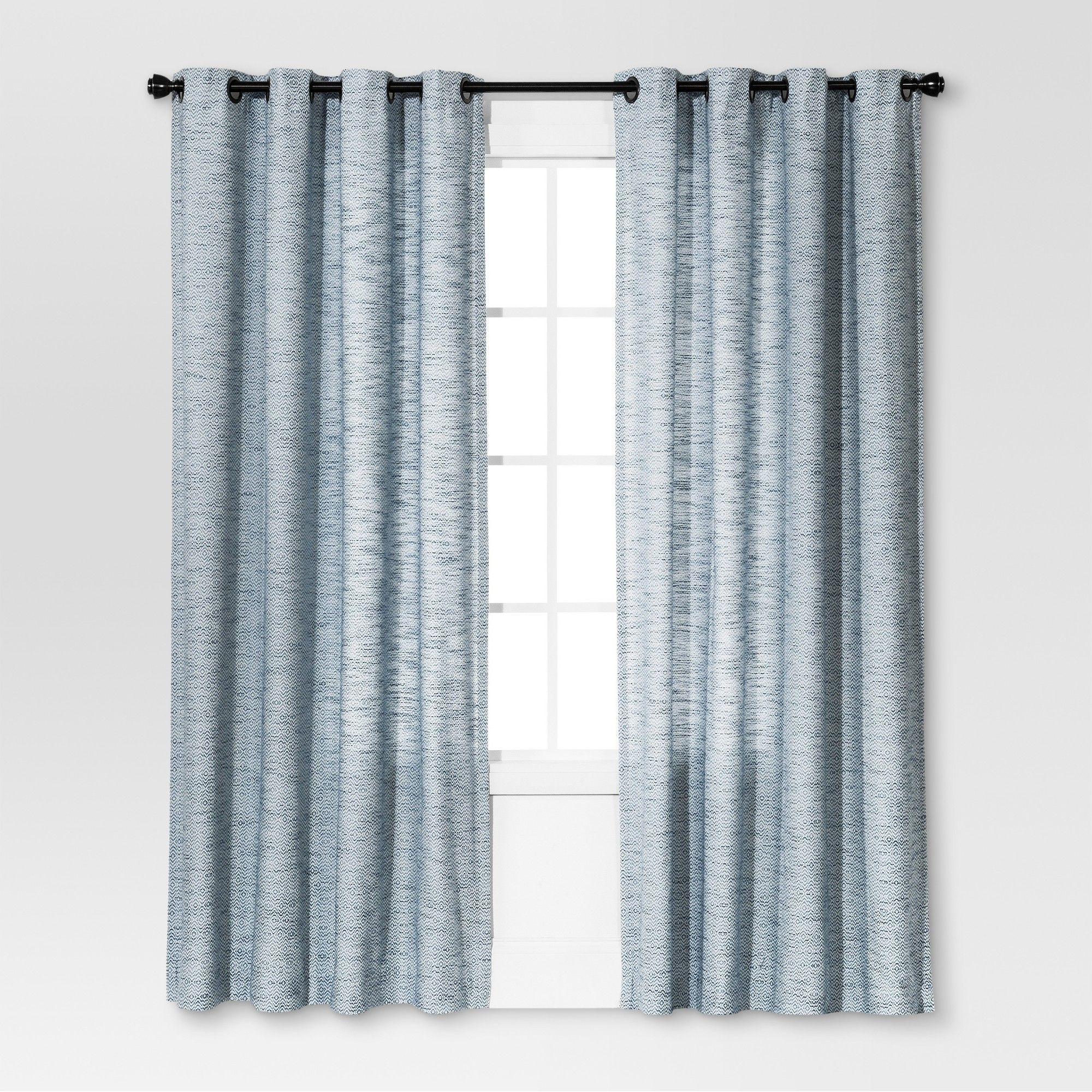 Diamond Weave Window Curtain Panel Blue 54 X108 Threshold