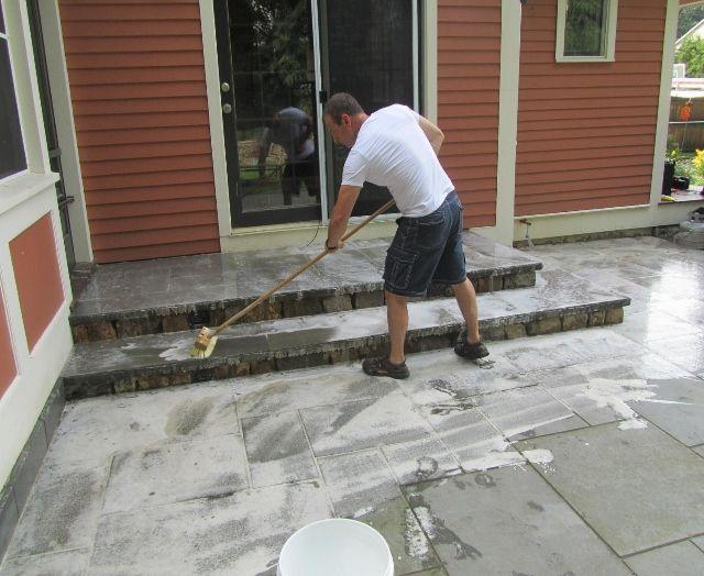 how to clean a patio bluestone patio