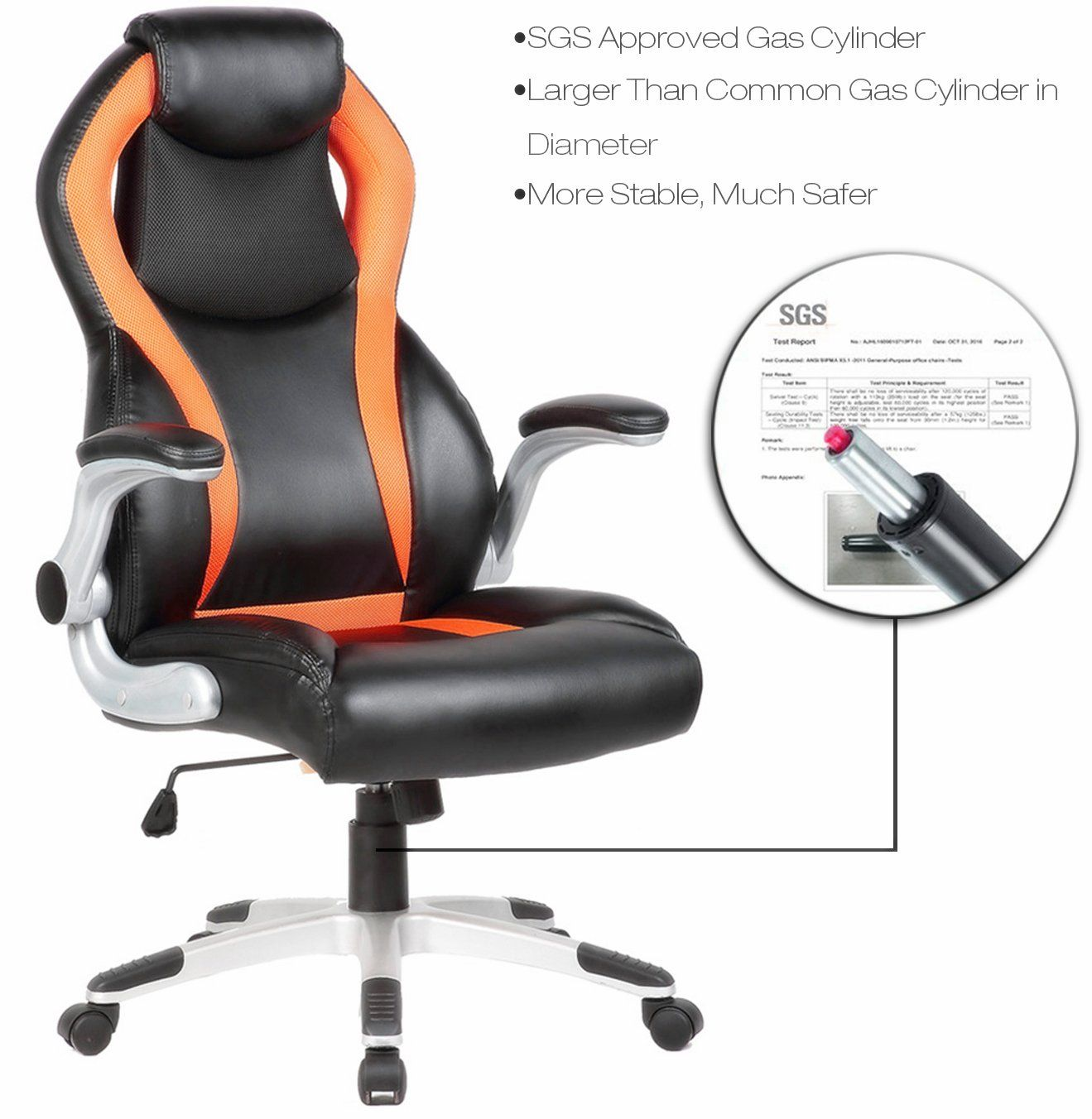Seatzone Highback Executive Swivel Office Chair Adjustable