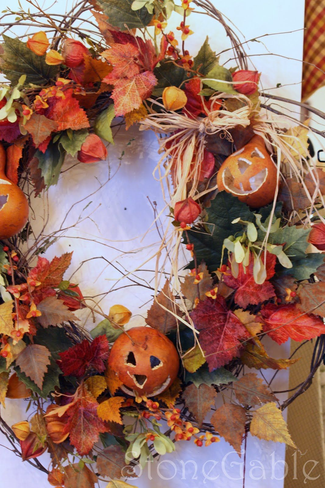 *lovely autumn wreath