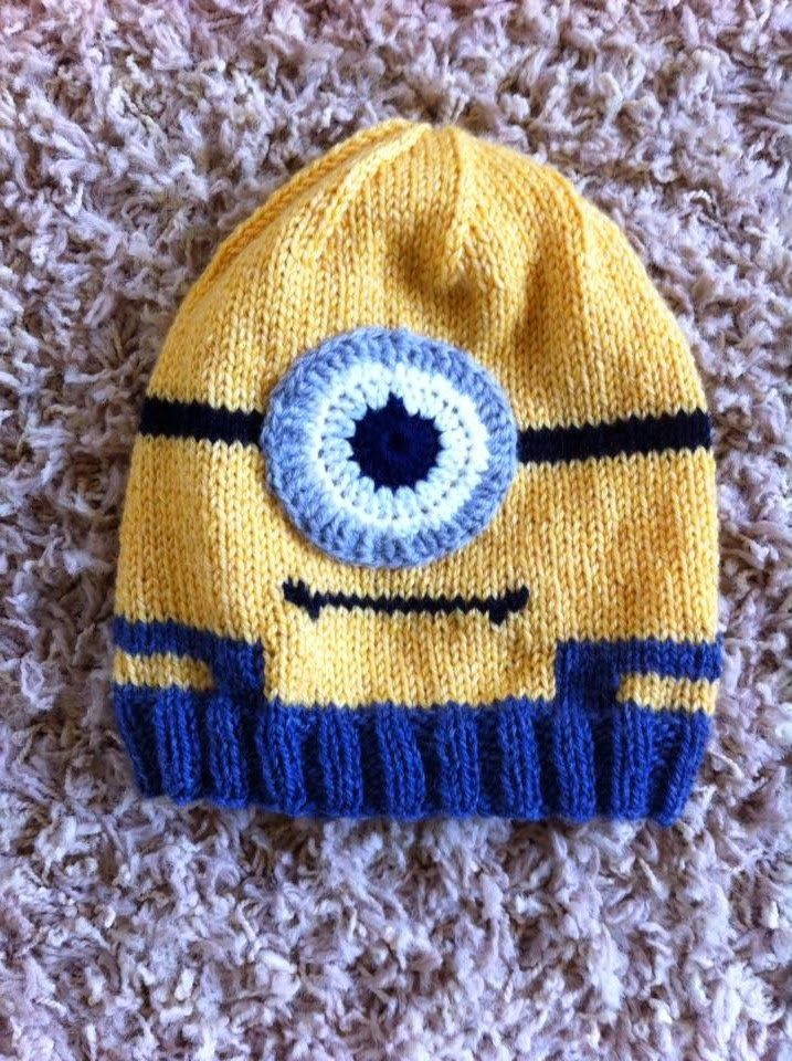 Hand Me Down Hobby: Minion In Overalls Hat | Knit | Pinterest