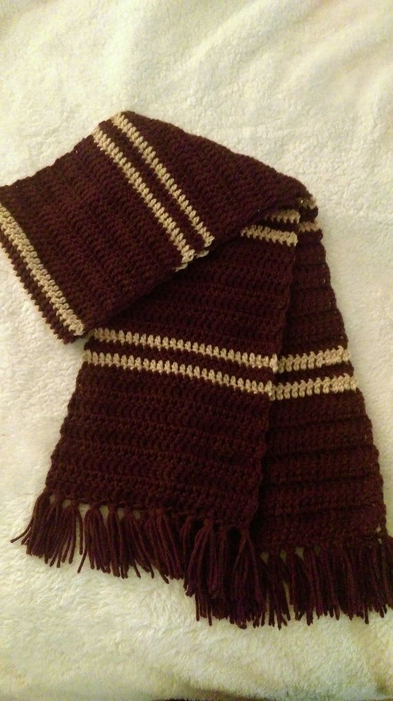 Harry Potter Scarf Crochet Harry Potter Scarf Hogwarts Houses