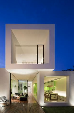 Stacked Cube Houses In Modern Architecture 집 건축 현대 건축