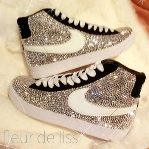 bedazzled nikes  6bd8832bf5fa