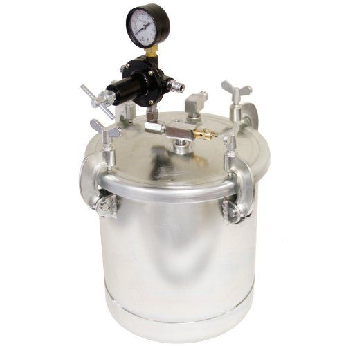 Tcp Global 10l 2 1 2 Gallon Pressure Pot Paint Tank With Regulator Pressure Gauge For Large Volume Painting And Autobody Pressure Pot Paint Sprayer Gallon