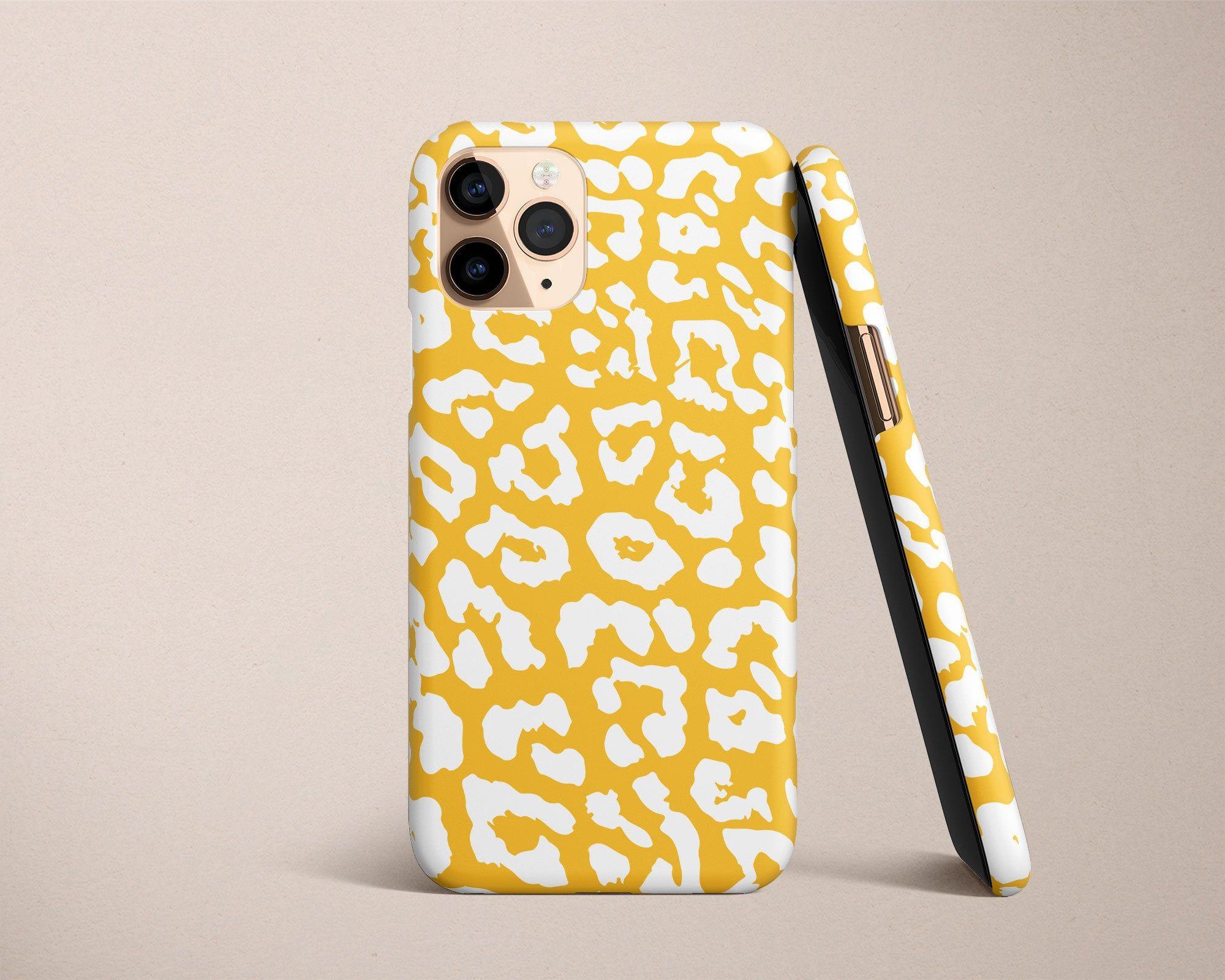 Mustard Yellow Cheetah Print Google Pixel Case Animal Print Pixel 5 Case Pixel 4 XL 4A 5G Leopard Pixel 3A XL Tough Case Pixel 2 Phone Case