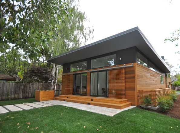 Considering this siding for our house some day! Nice Shades: Michelle  Kaufmann's Latest Prefab