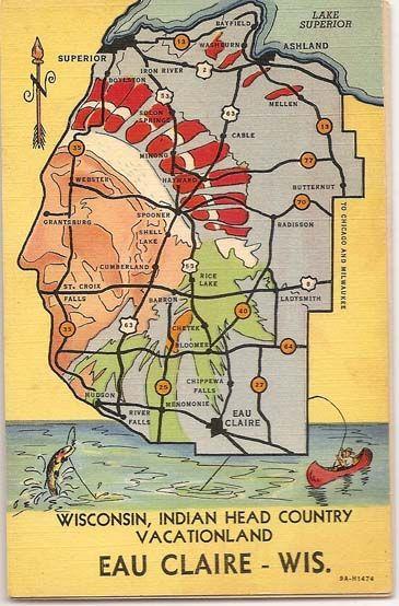 So very cool -- Eau Claire vintage map. Love this area! #leinenkugels