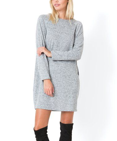 95bf9ad7990 Look what I found on  zulily! Heather Gray Sweater Dress  zulilyfinds