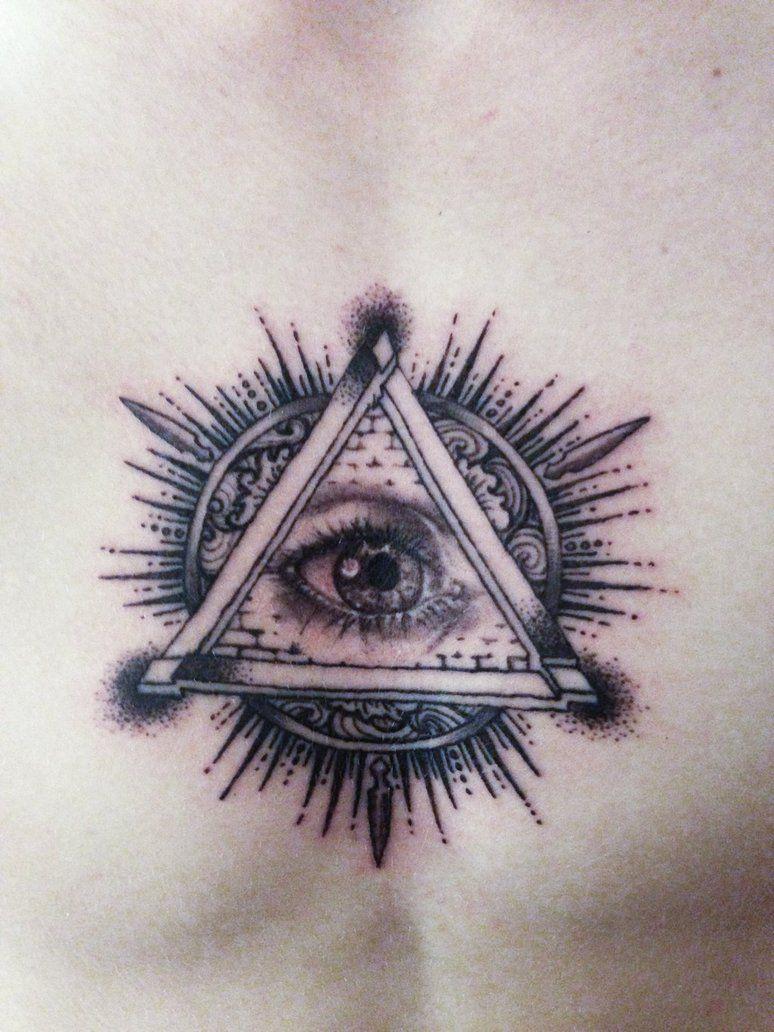 Illuminati All Seeing Eye Pyramid Tattoo