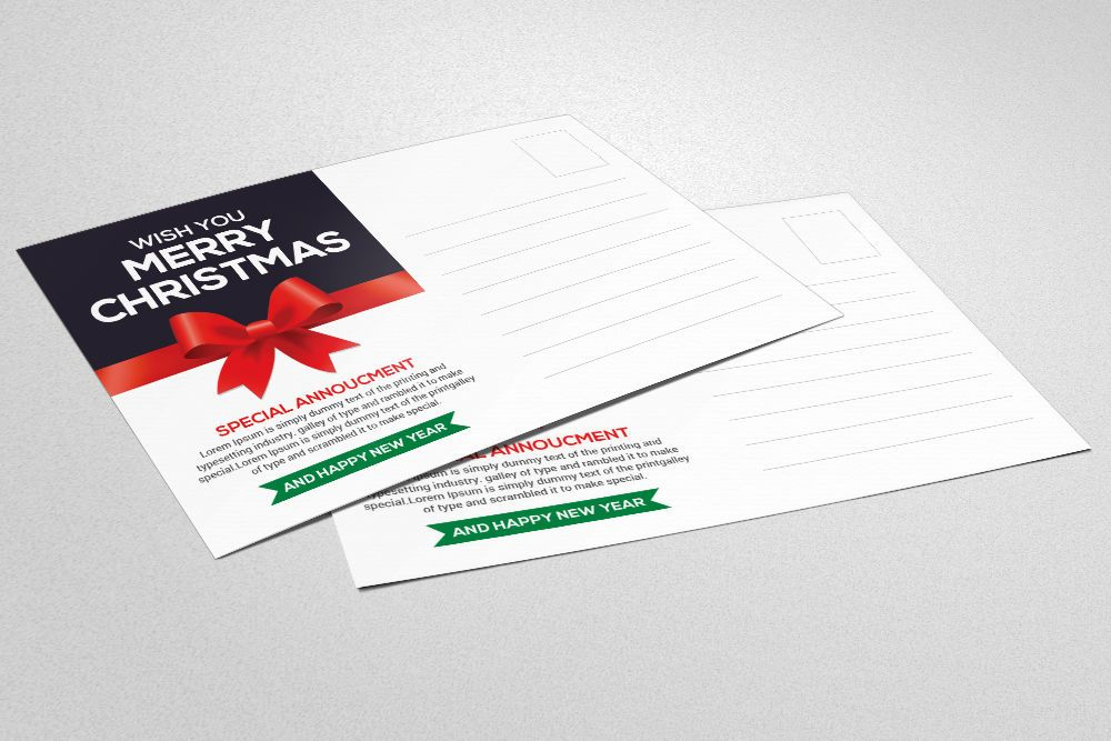 Christmes new year card by business templates