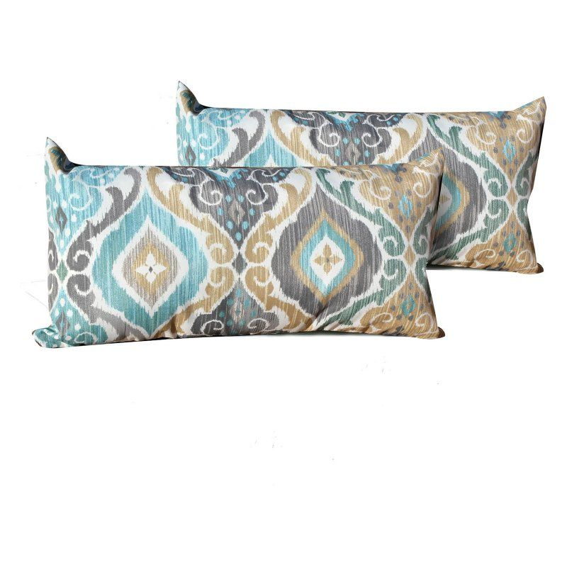 Tk Classics Persian Mist Outdoor Throw Pillows Set Of 2 Pillow