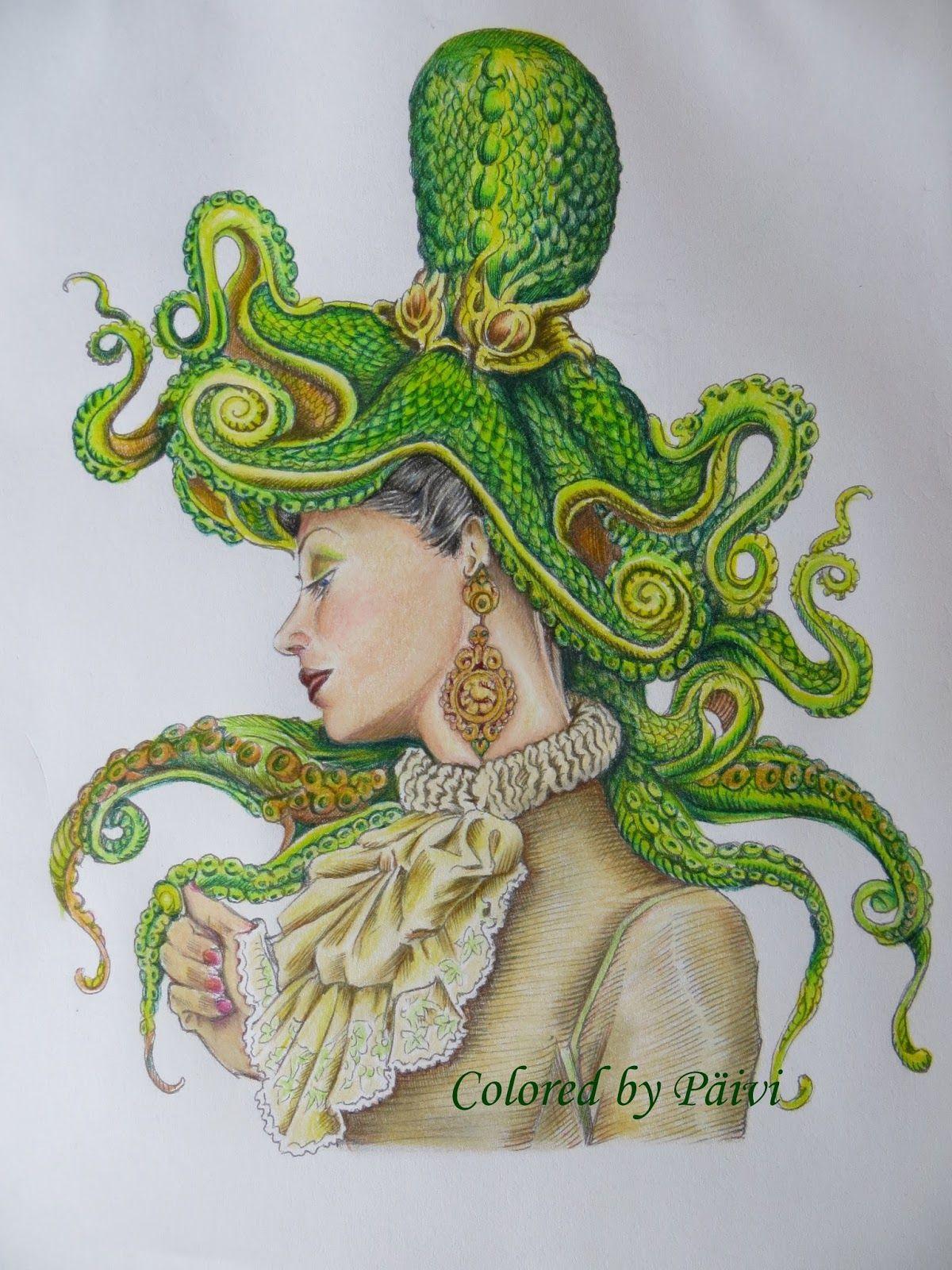 Cycloptopus Coloring Book Page, Adult Coloring, Cyclops Octopus ...