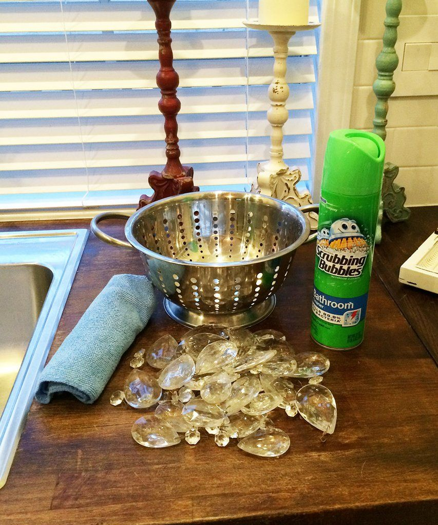 DIY Chandelier Crystals & Prisms Cleaning Diy chandelier