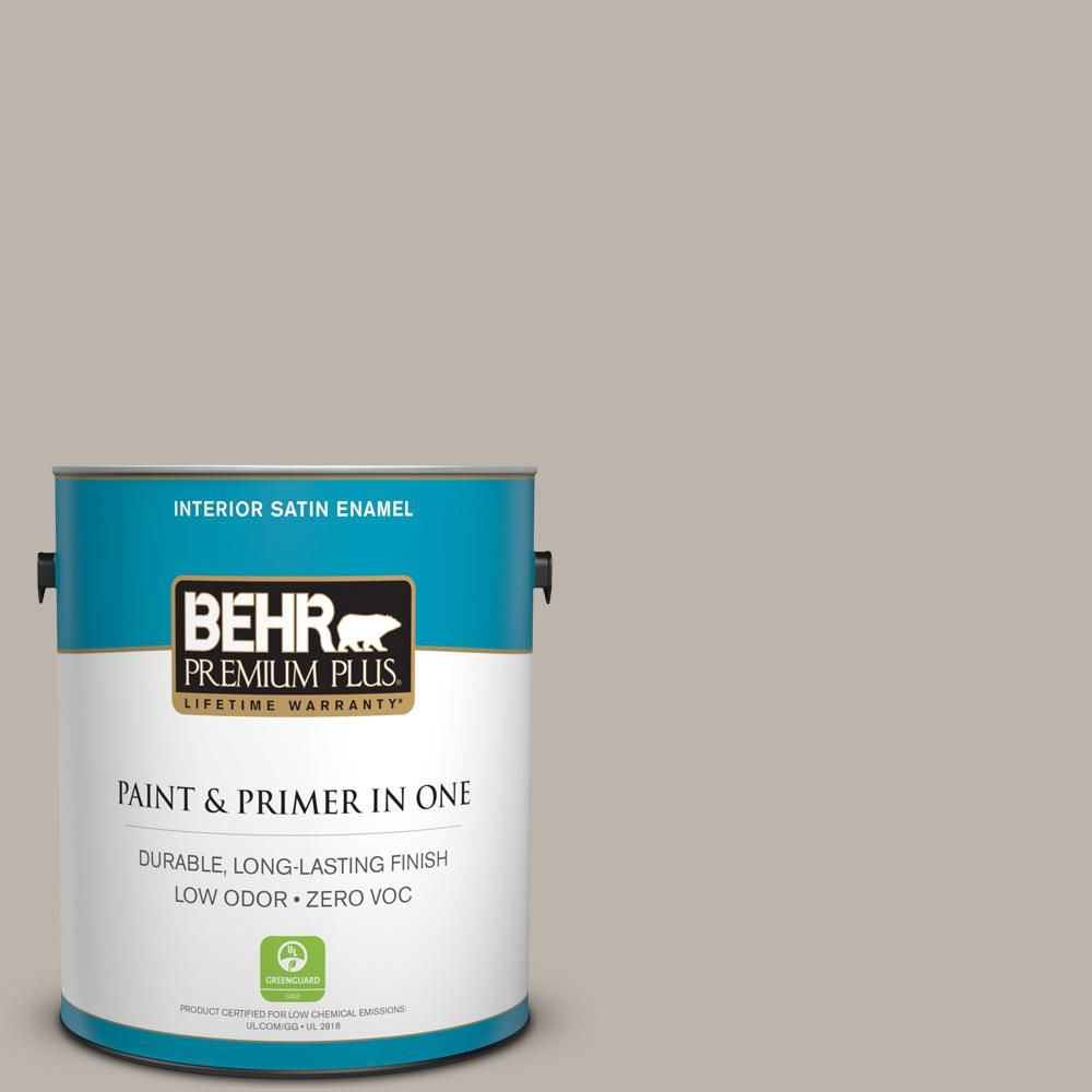 BEHR Premium Plus Home Decorators Collection 1-gal. #hdc-CT-21 Grey Mist Zero VOC Satin Enamel Interior Paint