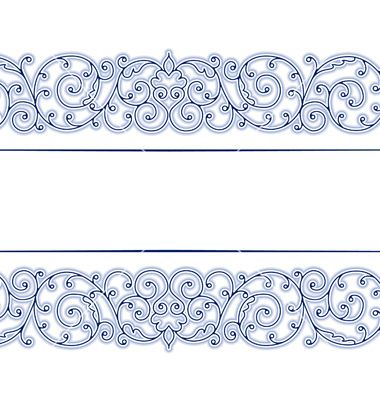 Stylish Vintage Lace Border In Vector 776567