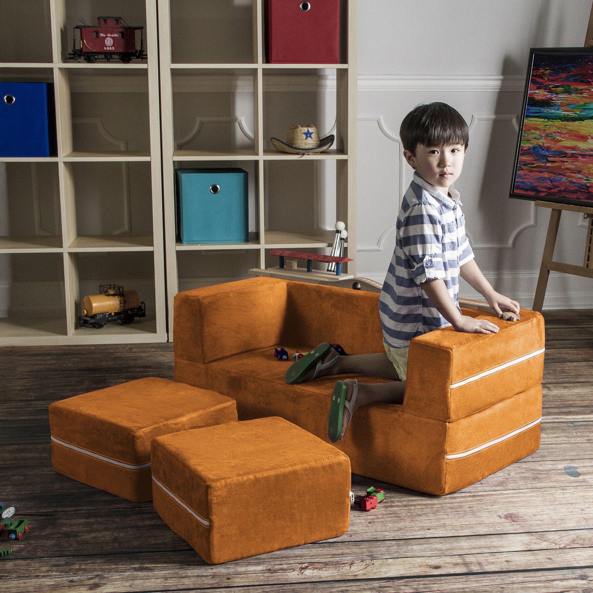 Colbie Modular Kids Club Chair And Ottoman