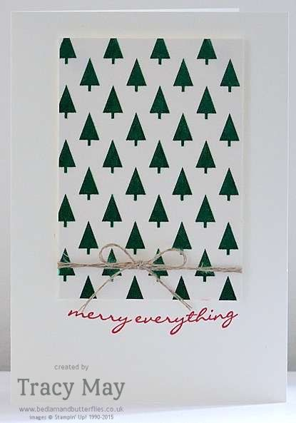 Stampin' Up! Holidays Fancy Foil Designer Vellum Christmas Card Tracy May