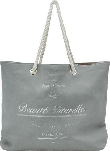 Strandtasche aus 100% Polyester in der Farbe Grau.