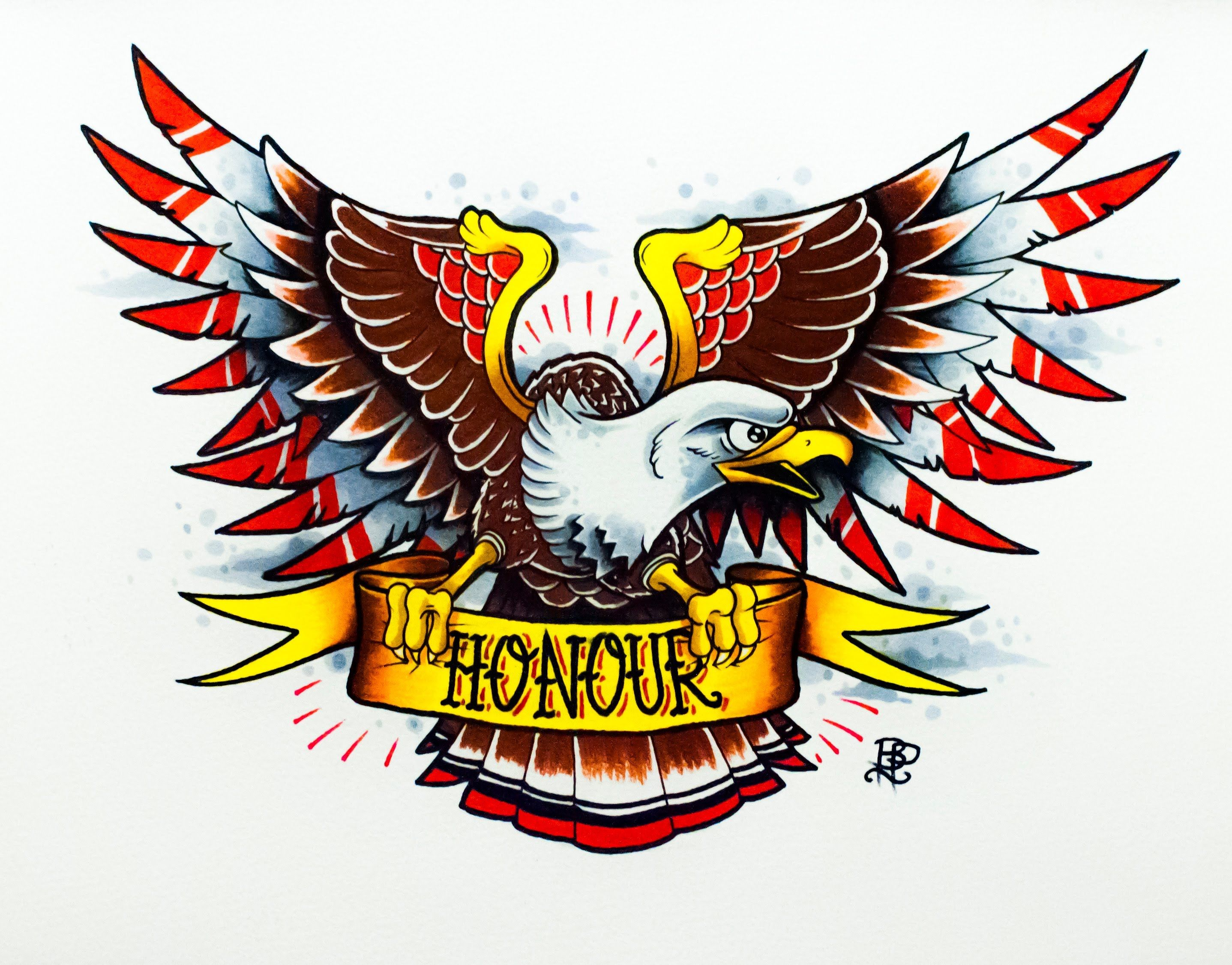 American eagle tattoos high quality photos and flash - How To Draw An Old School Eagle Tattoo Design By Thebrokenpuppet