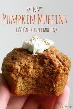 Skinny Pumpkin Muffins #pumpkinmuffins